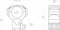 Тактические кольца Hawke 25.4мм 9-11мм Extra High (сверхвысокие) 0