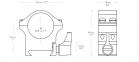 Стальные кольца для крепления прицела Hawke Professional, Weaver / Picatinny, 1 дюйм, средний размер 0