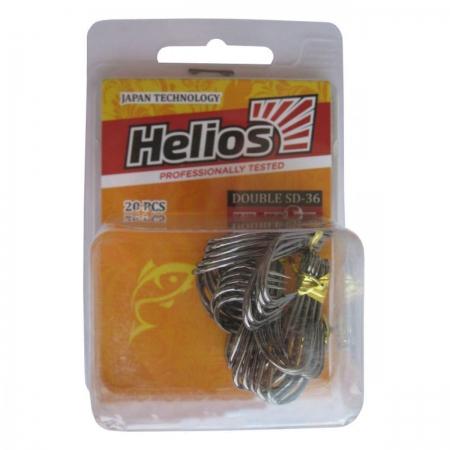 Крючок двойной SD-36 №1 цвет ВС (20шт) Helios (HS-SD-36-1)