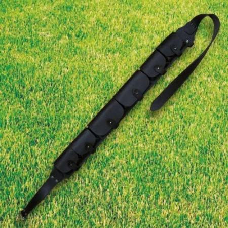 Патронташ №72 из натуральной темно-коричневой кожи закрытого типа