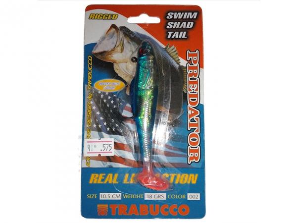 Виброхвост Trabucoo Swim Shad Single Hook, 105 мм, 18 гр, color - 2 (187-50-020)