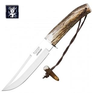Нож из нержавеющей стали c кожаной оболочкой (CC73)
