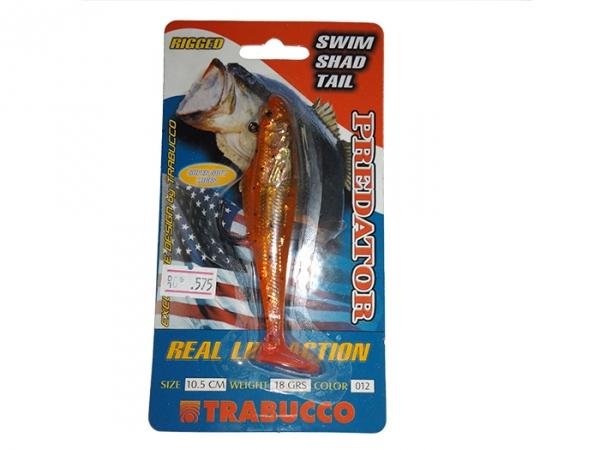 Виброхвост Trabucoo Swim Shad Single Hook, 105 мм, 18 гр, color - 12 (187-50-120)