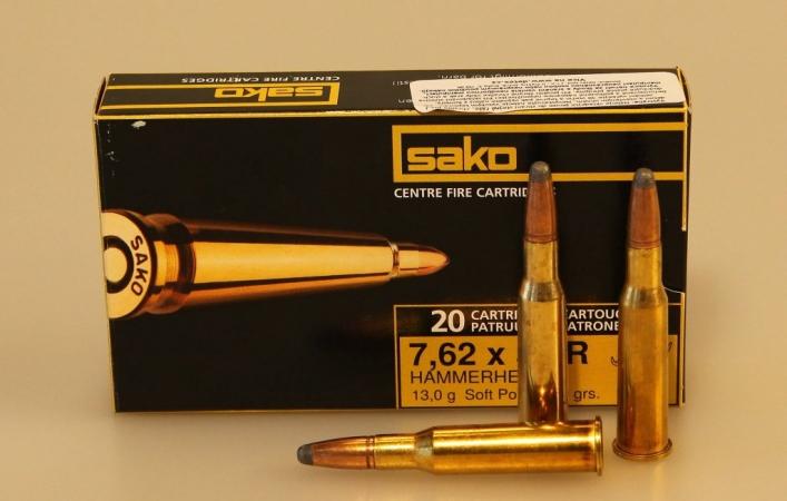 Патрон Sako, кал. 7.62 x 53 R Hammerhead 13.0 гр (SP)