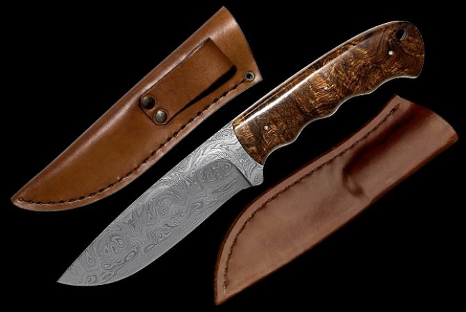 Нож Makura Hippo Дамасская сталь
