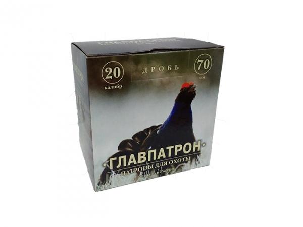 Патрон Главпатрон 20/70, Дробь №3, 24 гр