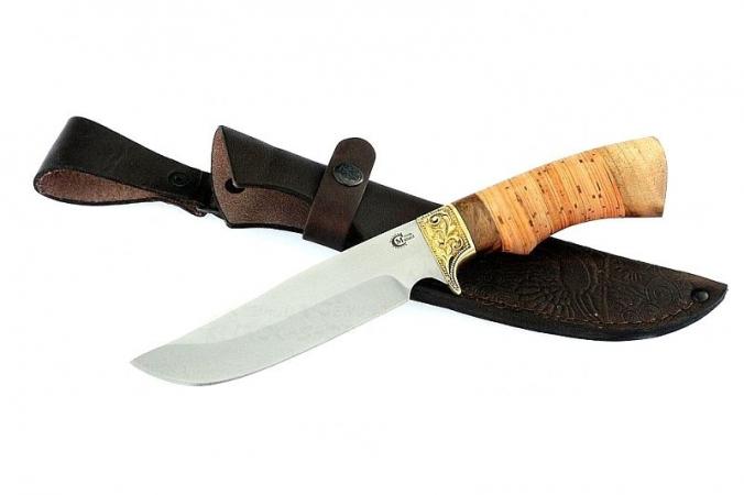 Нож Лорд, ст.65х13, береста, литье
