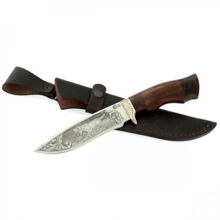Нож Близнец кован ст 95*18 венге/литье/гравировка