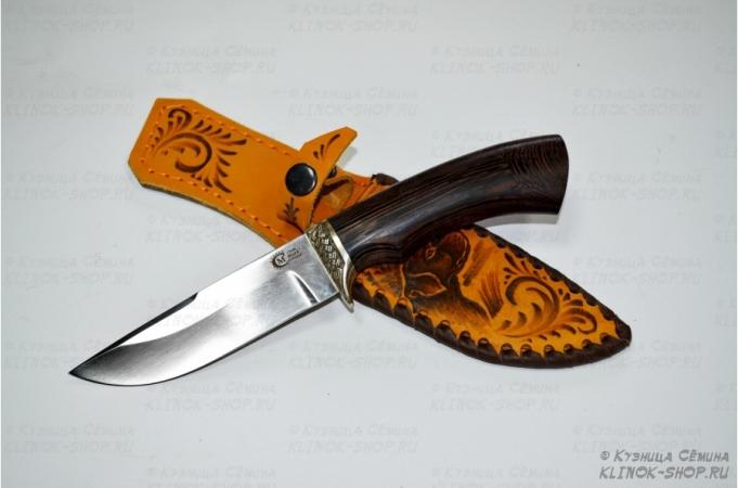 Нож Егерь, кован, ст 95х18, венге, литье