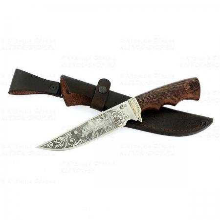 Нож Легионер кован ст 95*18 венге/литье/гравировка