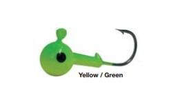 Джиг-головка Trabucoo Round Jig 25 гр Yellow/Green  (187-76-425)