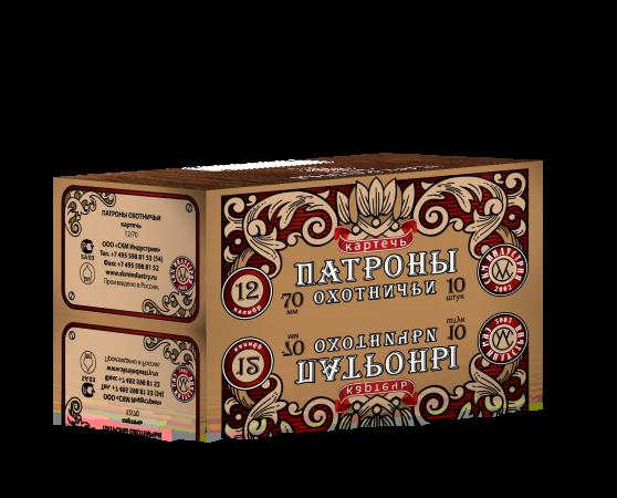 Патрон охотничий СКМ, кал. 12/70, картечь 8,0мм 35 гр, п. Импорт