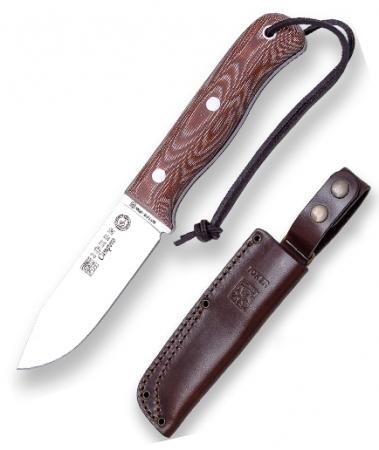 Нож туристический в кожаном чехле CM112 (10,5см)