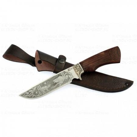 Нож Лорд кован ст 95*18 венге/литье/гравировка