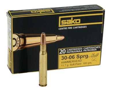Патрон Sako, кал. 30-06 SPRG Hammerhead 11.7 гр (SP)