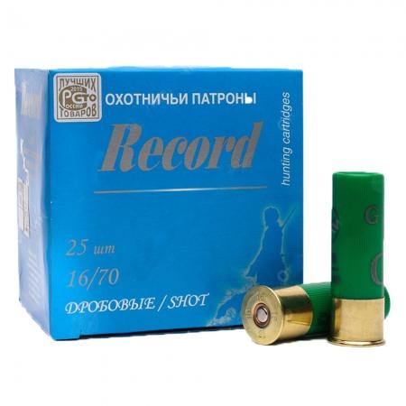 Патроны охотничьи дробовые Record 16/70 дробь №3 б/к