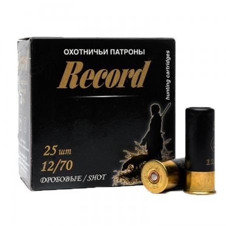 Патроны охотничьи дробовые Record 12/70 дробь №7, б/к