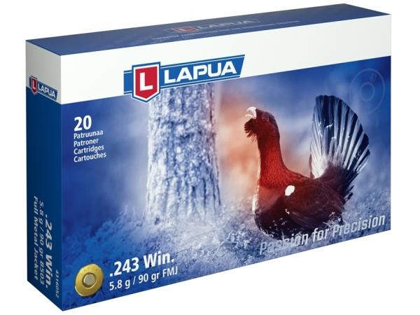 Патрон Lapua, кал. 243 Win 5.8 гр (FMJ)
