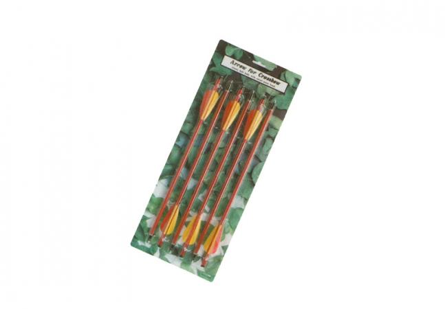 Алюминиевые стрелы 9мм, для арбалета 53см в упаковке 6 штук