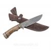 Нож Лорд, сталь - дамасская, рукоять - орех каповый, мельхиор
