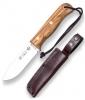 Нож туристический в кожаном чехле CO112 (10,5см)